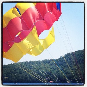 Parasail on Lake George- By Michele Carroll